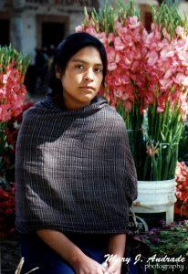 Guarecita vendedora de flores