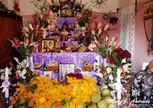 Altar en Juchitán, Istmo de Tehuantepec.